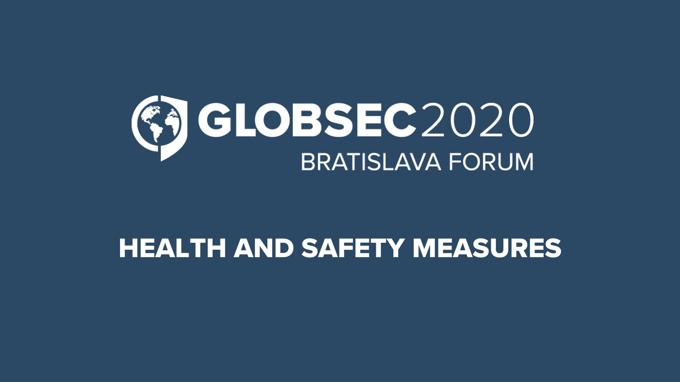 Health and Safety Measures for GLOBSEC 2020 Bratislava Forum